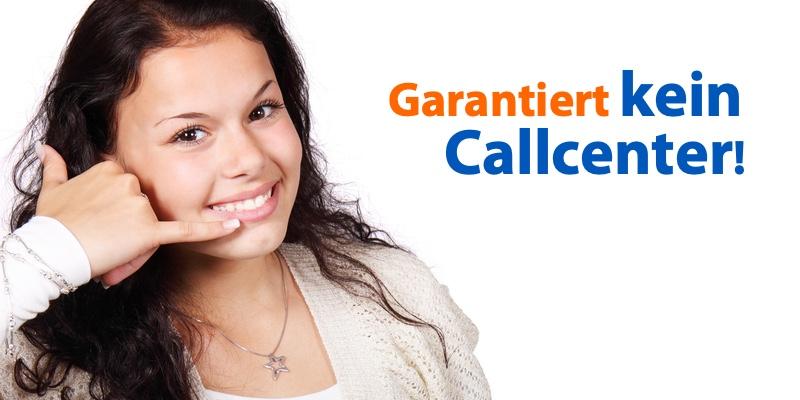 Telefonservice, kein Callcenter